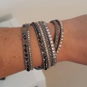 Swarovski crystal bracelet. Missing some stones.
